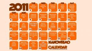 2011 Nanowrimo Desktop Calendar Wallpaper